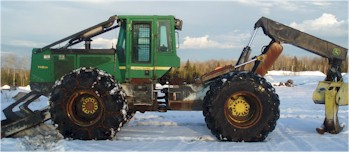 Used 2006 John Deere 748G Grapple Skidder for Sale
